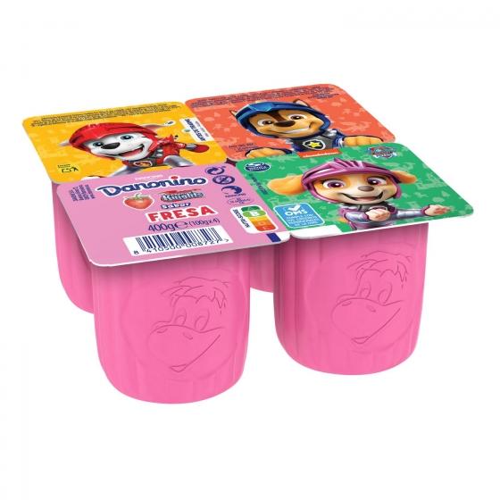 Petit maxi de fresa Danone Danonino sin gluten pack de 4 unidades de 100 g.