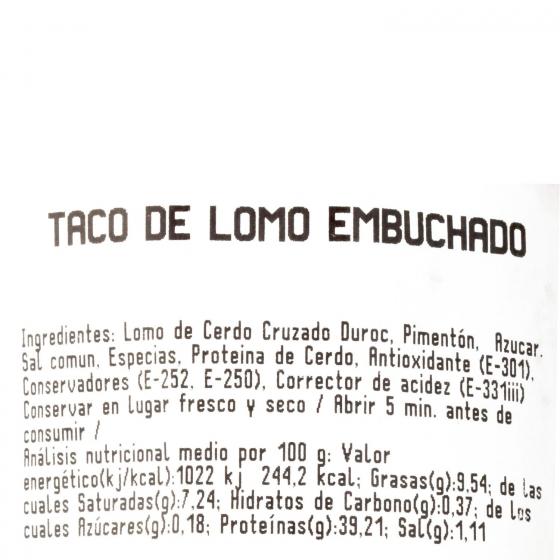 Lomo embuchado taco Hidisa pieza 400 g aprox - 3