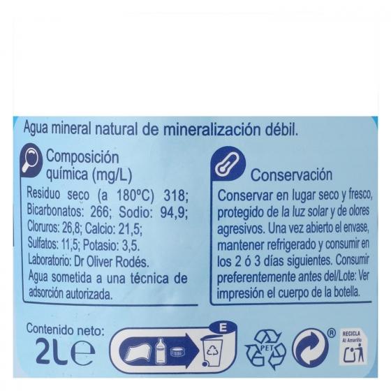 Agua mineral Carrefour natural 2 l. - 1