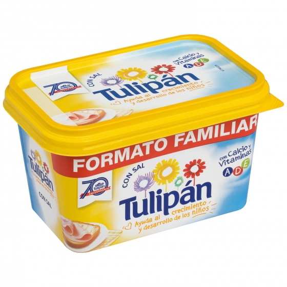 Margarina con sal Tulipán 600 g.