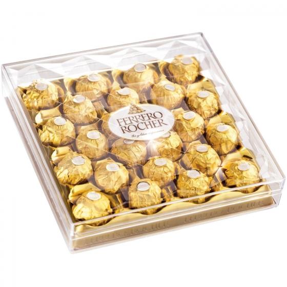 Bombones de chocolate con leche y avellana Ferrero Rocher 24 ud.