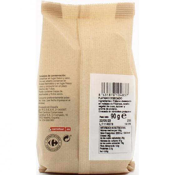 Plátano desecado Carrefour 90 g. - 1