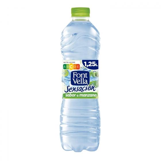 Agua mineral Font Vella sensación 0% azúcares sabor manzana 1,25 l.
