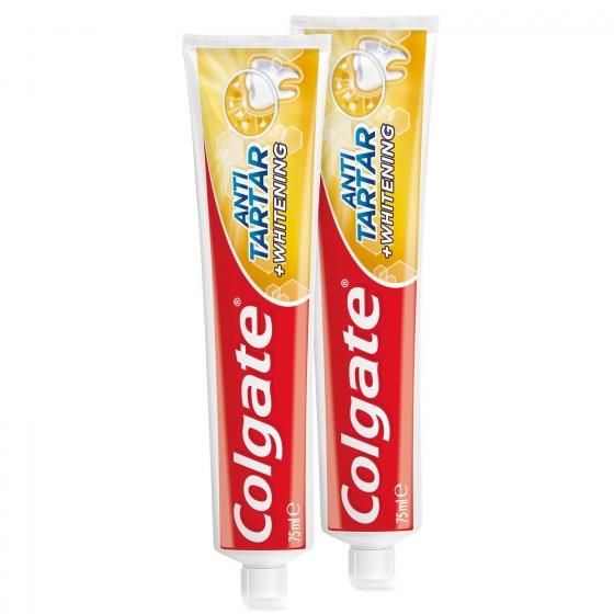 Dentífrico Anti-Sarro + Blanqueador Tubo Duplo Colgate pack de 2 unidades de 75 ml. - 3
