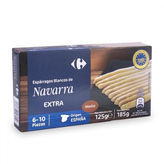 Espárragos blancos de Navarra Carrefour 212 g.