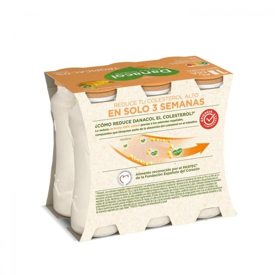 Yogur líquido tropical Danone Danacol pack de 6 unidades de 100 g. - 3
