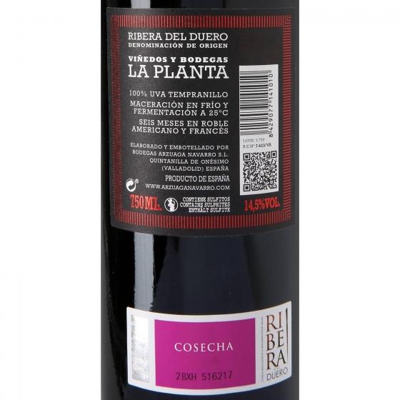 Vino D.O. Ribera del Duero tinto roble La Planta 75 cl. - 3