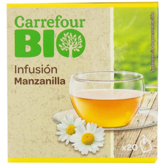 Manzanilla en bolsitas ecológica Carrefour Bio 28 g. - 1