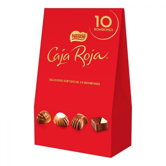 Bombones surtidos de chocolate Nestlé Caja Roja lata 10 ud.