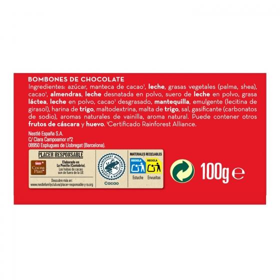 Bombones surtidos de chocolate Nestlé Caja Roja lata 10 ud. - 4