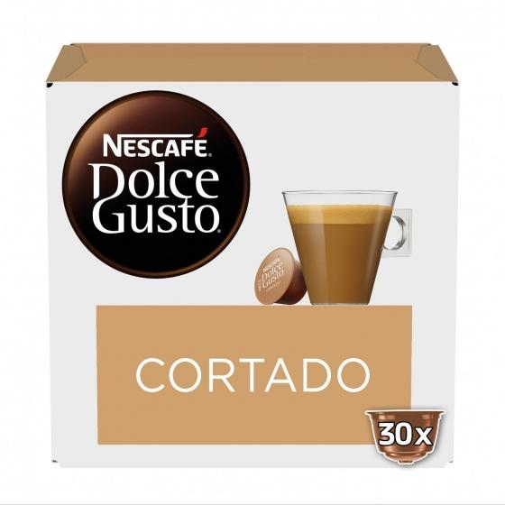 Café cortado espresso macchiato en cápsulas Nescafé Dolce Gusto 30 unidades de 6,3 g.
