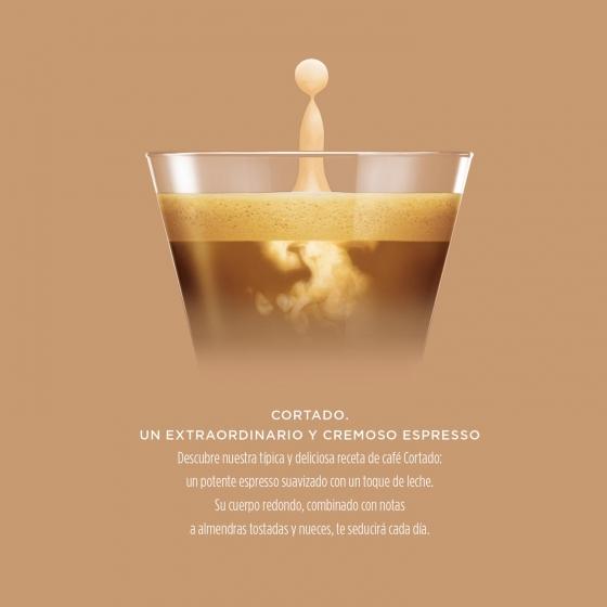 Café cortado espresso macchiato en cápsulas Nescafé Dolce Gusto 30 unidades de 6,3 g. - 3