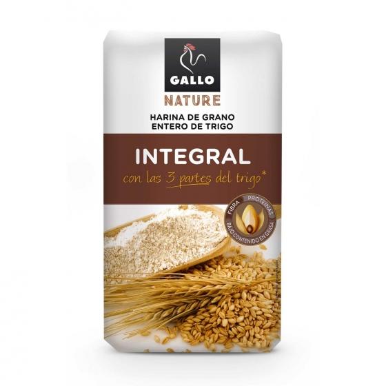 Harina de trigo integral Gallo 1 kg.
