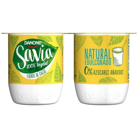 Preparado de soja edulcorado natural Danone Savia sin lactosa pack de 4 unidades de 125 g. - 1