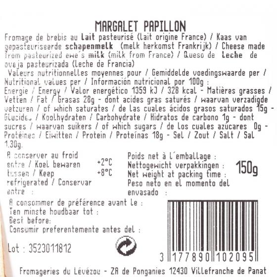 Queso Margalet Papillon Iberconseil 150 g - 1