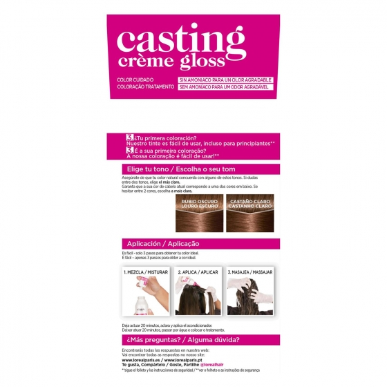 Tinte Créme Gloss nº 600 Rubio Oscuro L'Oréal Casting 1 ud. - 1
