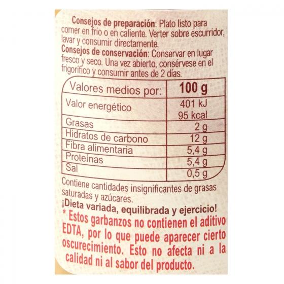 Garbanzo cocido categoría extra Carrefour 400 g. - 3
