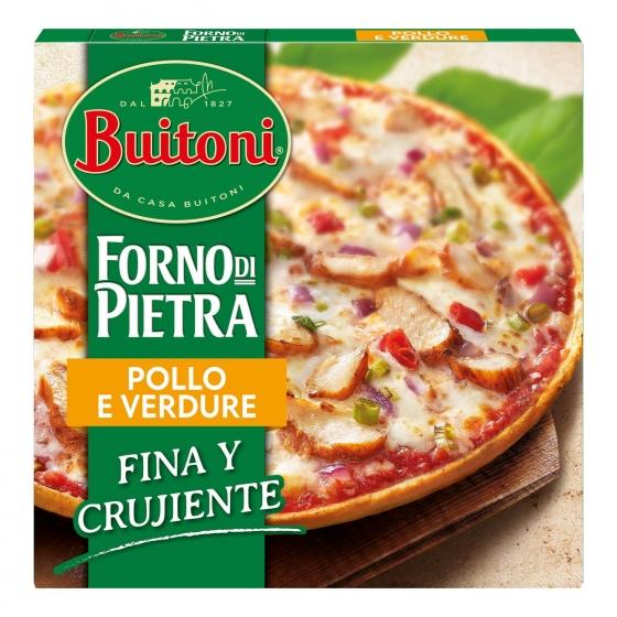 Pizza de pollo y verduras fina y crujiente Forno di Pietra Buitoni 350 g.