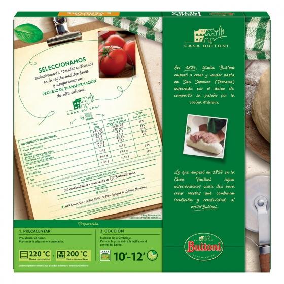 Pizza de pollo y verduras fina y crujiente Forno di Pietra Buitoni 350 g. - 4