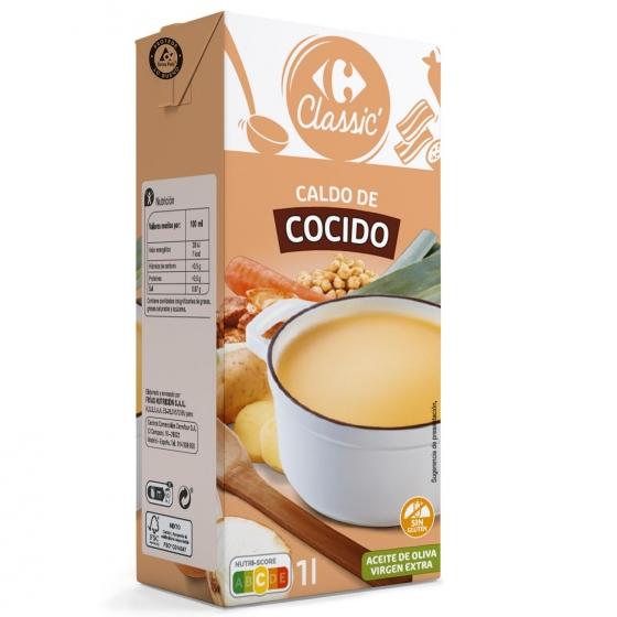 Caldo de cocido Carrefour sin gluten 1 l.