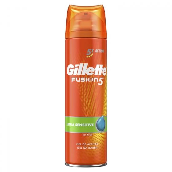 Gel fusion piel sensible Gillette 200 ml.