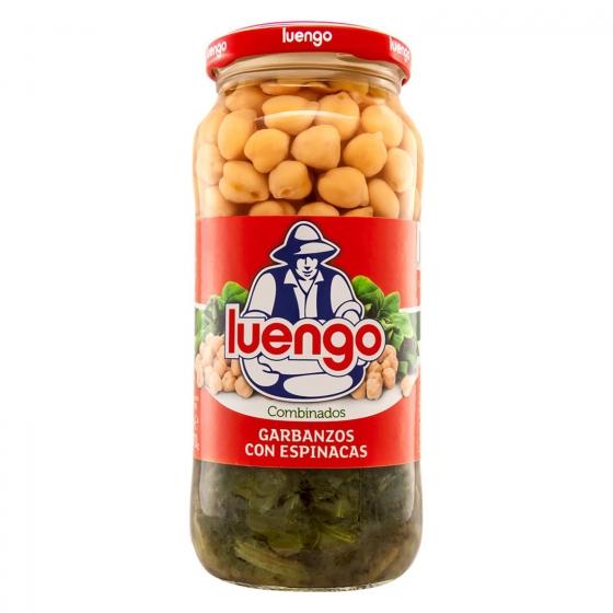 Garbanzos cocidos con espinacas Luengo 570 g.