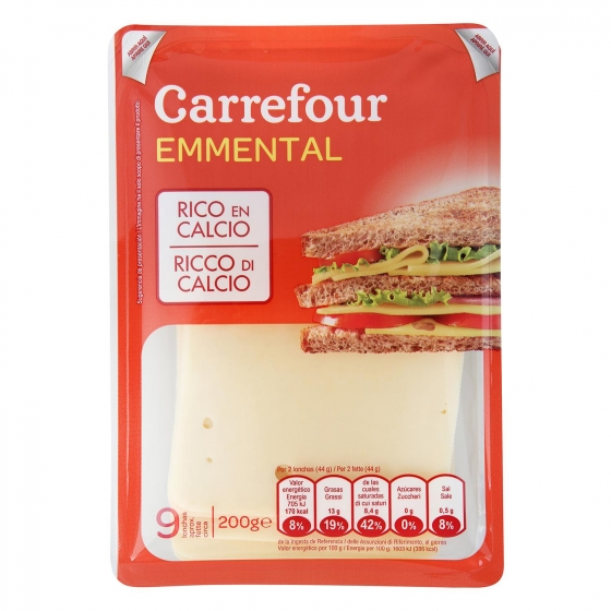 Queso emmental Carrefour 200 g.