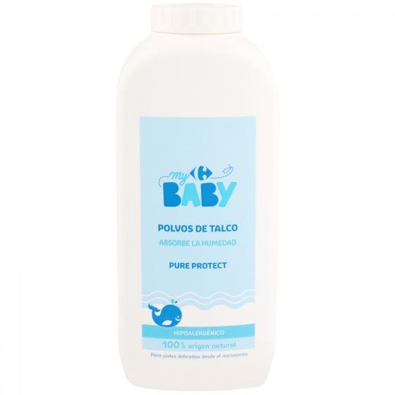 Talco para pieles delicadas Carrefour Baby 250 g.