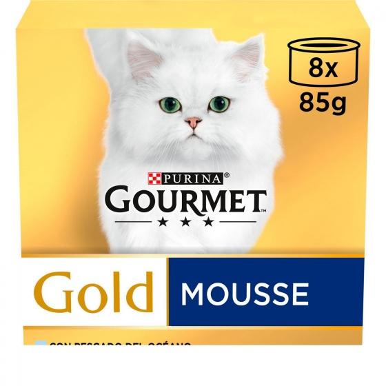 Purina Gourmet Gold Comida Húmeda para Gato Mousse Surtido 8x85g