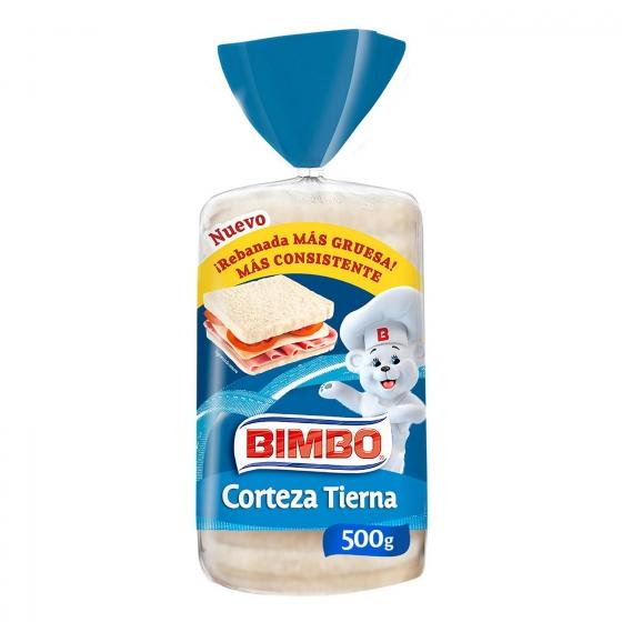 Pan de molde con corteza blanca Bimbo 450 g.
