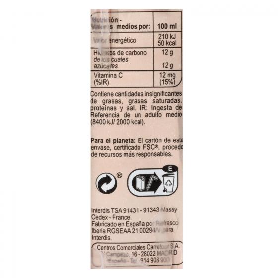 Zumo de piña, manzana y uva Carrefour pack de 6 briks de 20 cl. - 1