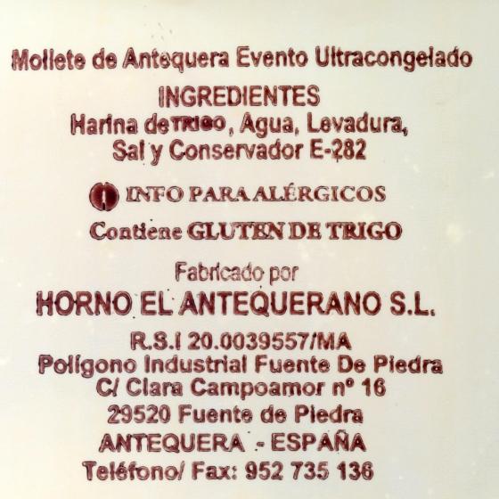 Pan de molletes mini El Antequerano envase 10 ud  - 3