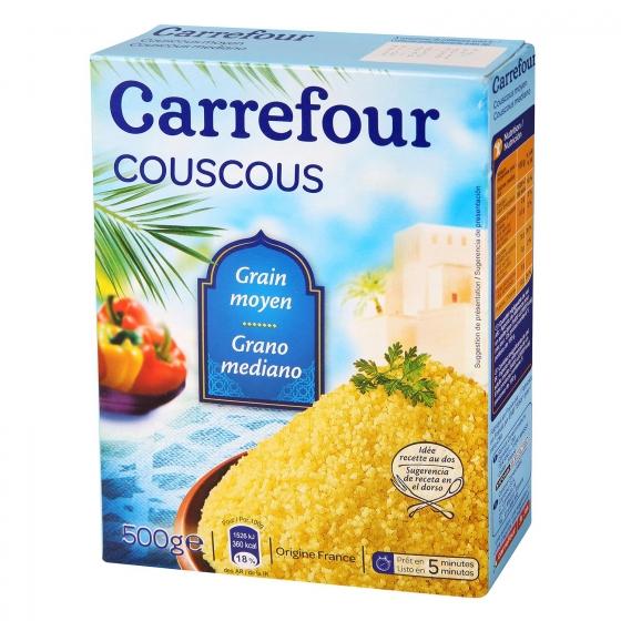 Cuscús grano mediano Carrefour 500 g.