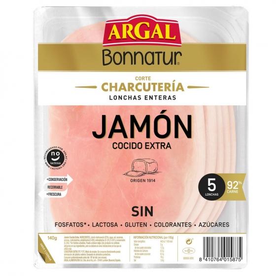 Jamón cocido Argal Bonnatur 175 g.