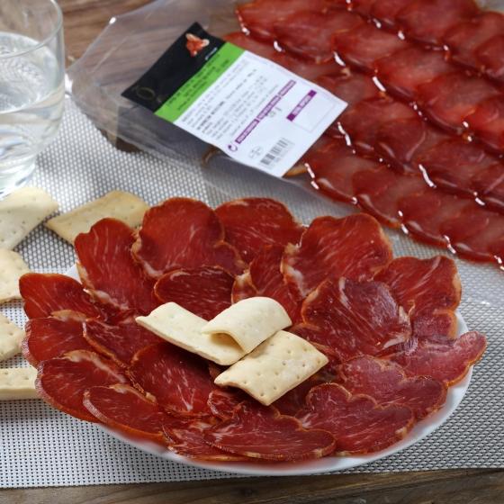 Lomo ibérico bellota 50% raza ibérica loncheado Señorío de Olivenza envase 120 g - 1