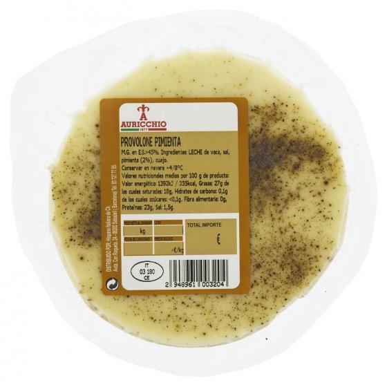 Queso provolone con pimienta Auricchio Hispano Italiana 200 g