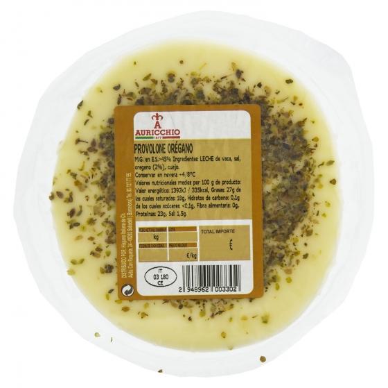 Queso provolone con orégano Auricchio Hispano Italiana 200 g