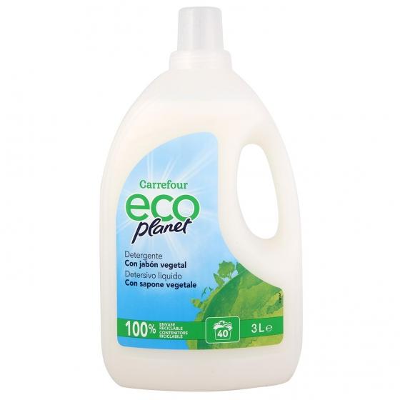 Detergente líquido Ecoplanet Carrefour 40 lavados.