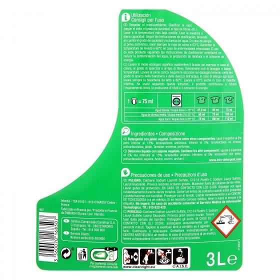 Detergente líquido Ecoplanet Carrefour 40 lavados. - 1