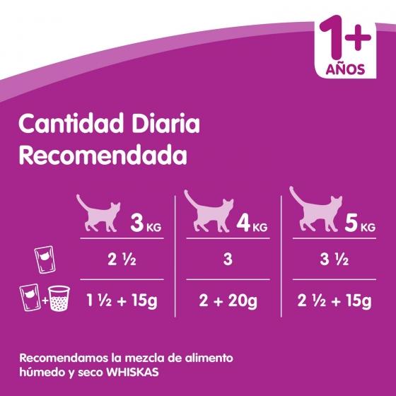 Whiskas Multipack de 12 Bolsitas para Gatos Adultos Selección de Carnes 100gr - 5