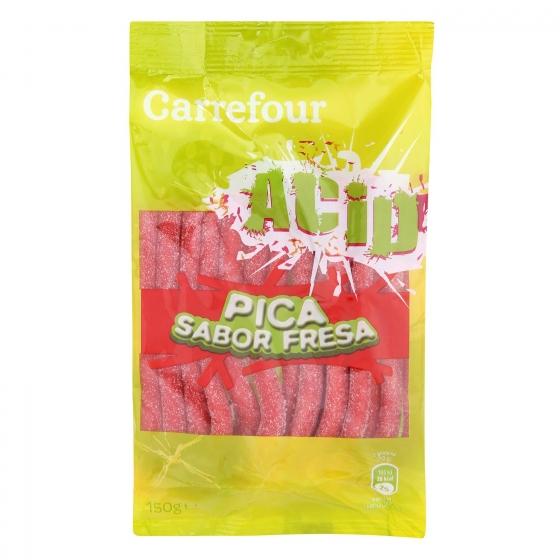 Regaliz de goma sabor fresa y pica pica Carrefour 150 g.