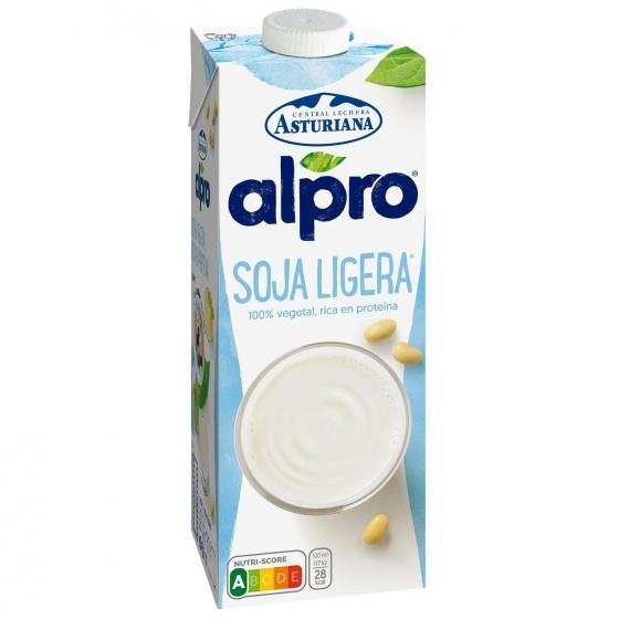 Bebida de soja ligera Alpro Central Lechera Asturiana brik 1 l.