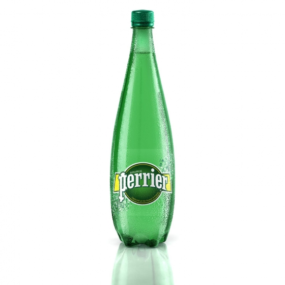 Agua mineral Perrier natural con gas 1 l. - 1