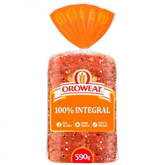 Pan de molde con grano entero con semillas de sésamo y lino Oroweat Bimbo Oreweat 680 g.