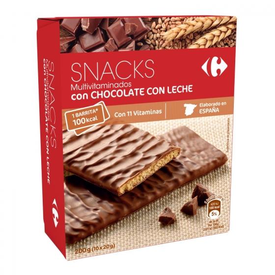 Galletas con chocolate con leche Mulivitaminadas Carrefour 210 g.