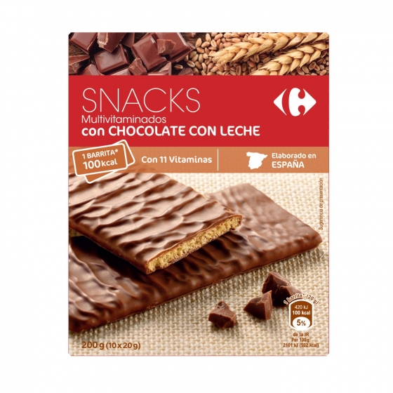 Galletas con chocolate con leche Mulivitaminadas Carrefour 210 g. - 1