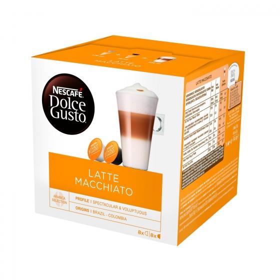 Café latte macchiato en cápsulas Nescafé Dolce Gusto 8 ud.