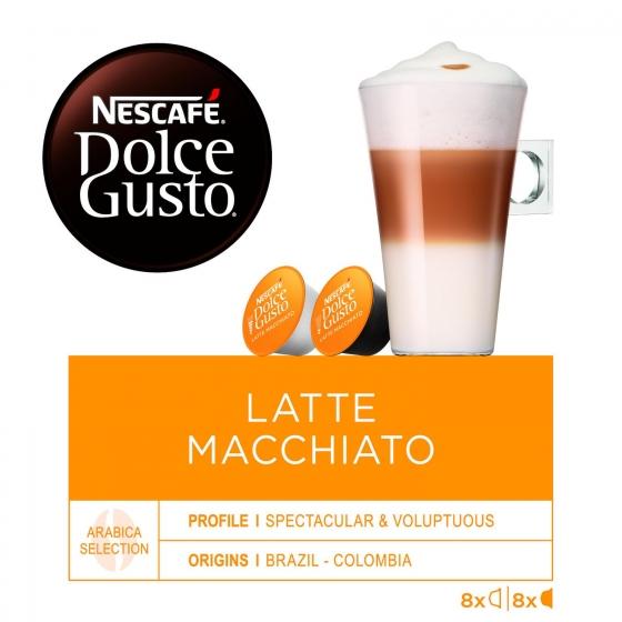 Café latte macchiato en cápsulas Nescafé Dolce Gusto 8 ud. - 1