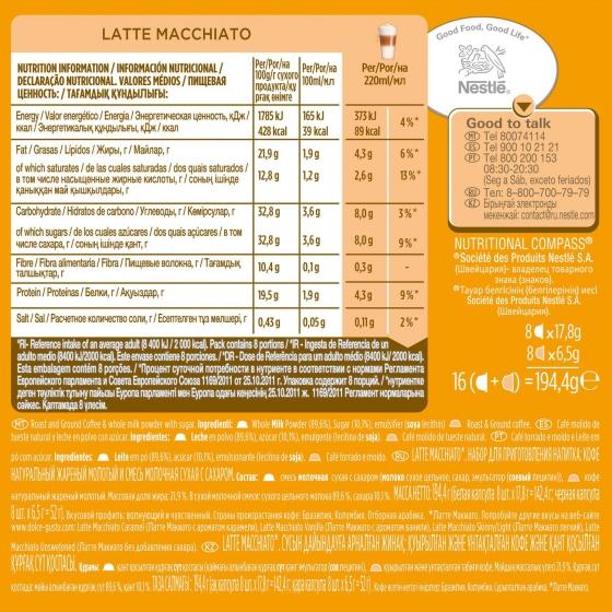 Café latte macchiato en cápsulas Nescafé Dolce Gusto 8 ud. - 3