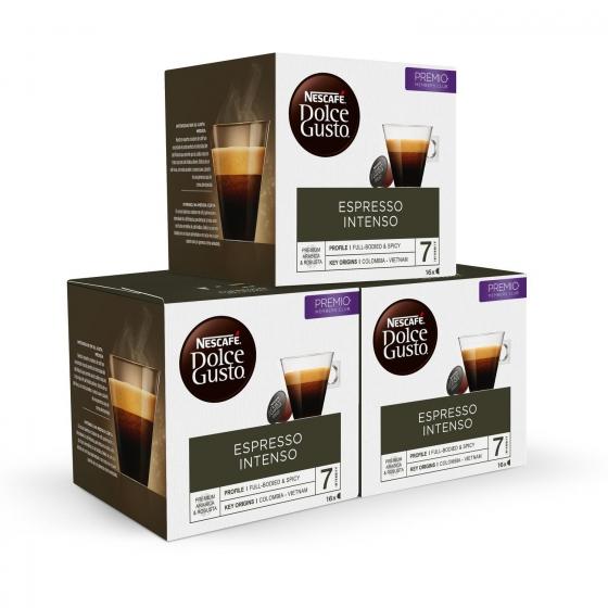 Café Espresso Intenso Nescafe Dolce Gusto 16 Cápsulas - 1
